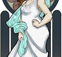 Dr. Who Art Nouveau-Donna Noble Sticker