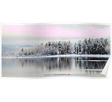 Snowy Ottawa River Poster