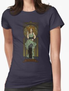 Dr. Who Art Nouveau-River Song Womens Fitted T-Shirt