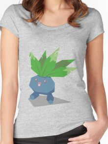 Cutout Oddish Women's Fitted Scoop T-Shirt
