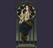 Dr. Who Art Nouveau-The Tardis/Idris Womens Fitted T-Shirt