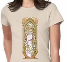 Adventure Time Art Nouveau-Fionna & Cake Womens Fitted T-Shirt