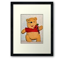 Pooh Bear Wears His Poppy With Pride Framed Print