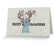 Neon Reindeer  Christmas 2015 Greeting Card