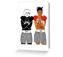 Andy Warhol Jean-Michel Basquiat Greeting Card