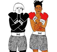 Andy Warhol Jean-Michel Basquiat Photographic Print