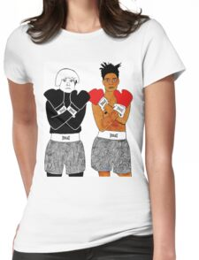 Andy Warhol Jean-Michel Basquiat Womens Fitted T-Shirt