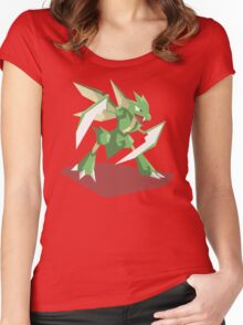 Cutout Scyther Women's Fitted Scoop T-Shirt