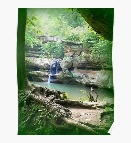 Waterfall at Old Man's Cave Poster
