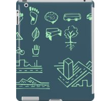 Urban mobility and transport drawings iPad Case/Skin