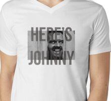 Here's Johnny Mens V-Neck T-Shirt