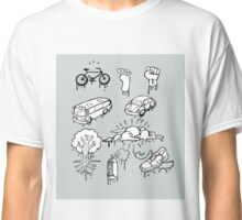Urban mobility and transport drawings Classic T-Shirt