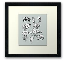 Urban mobility and transport drawings Framed Print