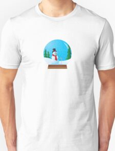Snowman Snow Globe Unisex T-Shirt