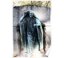 Cemetery Statue Poster