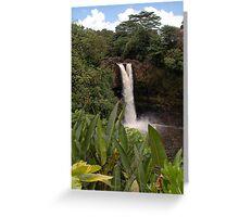 Rainbow Falls, The Big Island, Hawaii Greeting Card