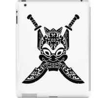 Blue Spirit (black & white) iPad Case/Skin
