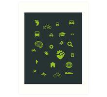 Urban mobility icons Art Print