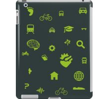 Urban mobility icons iPad Case/Skin