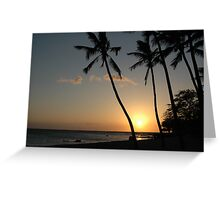 Sunset Over Anaehoʻomalu Bay, Hawaii Greeting Card