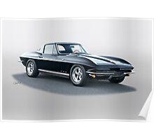 1966 Corvette Stingray Poster