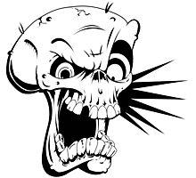 Psycho skull Photographic Print