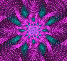 Purple and Green by Sandy Keeton