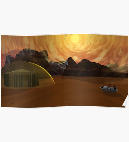 Mars Solar Storm Winds In 21203 A.D. Poster