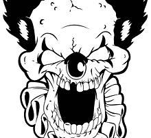 Maniacal Skull Clown by endurdog
