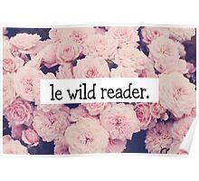 Le wild reader Poster