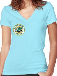 Oakland Seals T-Shirt Women's Fitted V-Neck T-Shirt