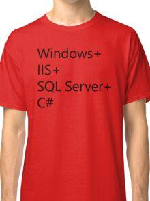 WISC - Windows IIS SQL Server C# Classic T-Shirt