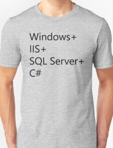 WISC - Windows IIS SQL Server C# Unisex T-Shirt