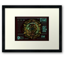 ©DA Instrument AS Espiral Fractal IA Framed Print
