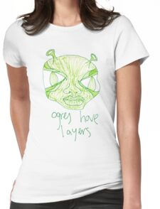 ogres have layers Womens Fitted T-Shirt