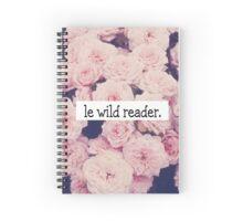 Le wild reader Spiral Notebook