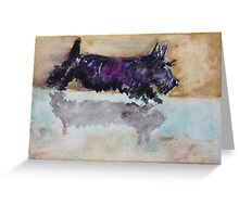 Scottie Dog Reflection Greeting Card