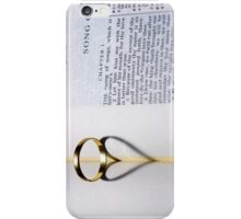 Song Of Solomons, Wedding Ring and Marriage. iPhone Case/Skin