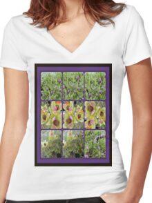 gardener diary Women's Fitted V-Neck T-Shirt