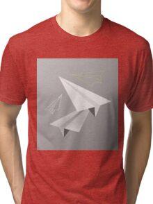 Paper planes Tri-blend T-Shirt