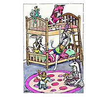 KMAY Hoodkids Girls Sleepover Photographic Print