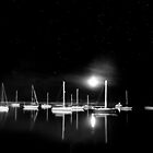 Morrow Bay, CA at night by Light Right Photos