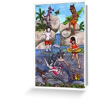 KMAY Hoodkids River Swimming Greeting Card