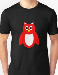 Red And White Owl Design Unisex T-Shirt
