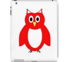 Red And White Owl Design iPad Case/Skin