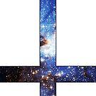 Blue Galaxy Inverted Cross White by rapplatt