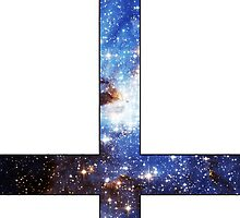 Blue Galaxy Inverted Cross White by rapplatt