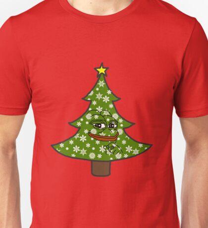 Smug Pepe Christmas Unisex T-Shirt