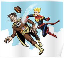 Captain Marvel defeats the Groper Poster