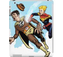 Captain Marvel defeats the Groper iPad Case/Skin